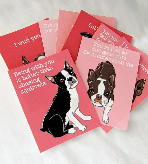 Boston Terrier Love Cards