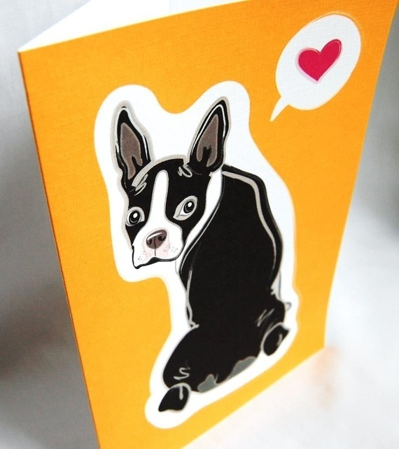 Boston Terrier Love Greeting Card