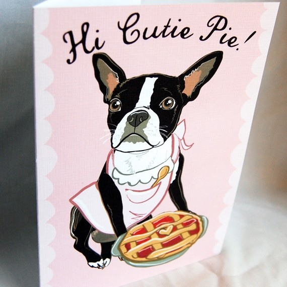 Boston Terrier Cutie Pie Card