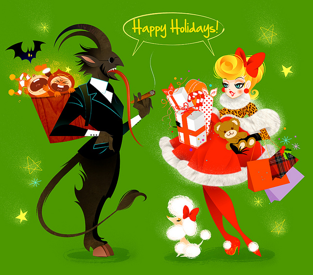 Mr Krampus and Mrs Claus