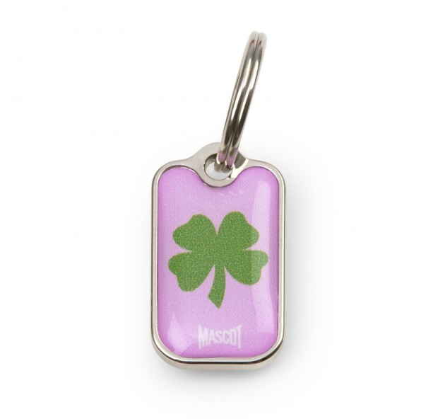 Clover blanketID tag from Mascot collection