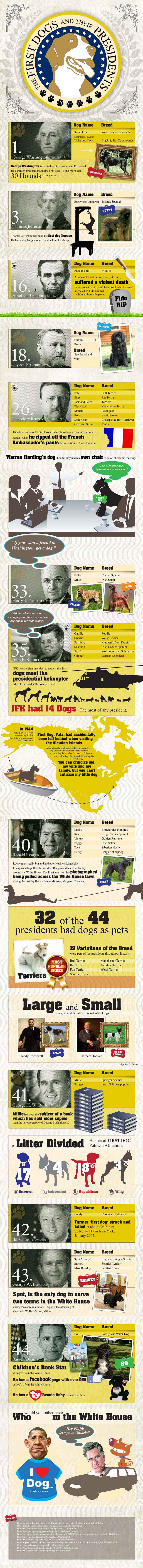 First Dogs And Their Presidents Infographic