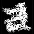 All of the Dogs Sticker Black