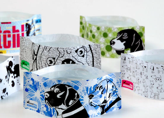 BowlDog collapsable dog bowls