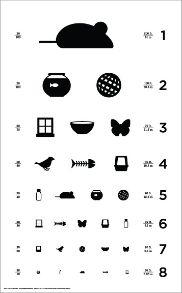 Cat Eye Chart - Local Paper Studio