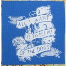 All of the Dogs Sticker Blue
