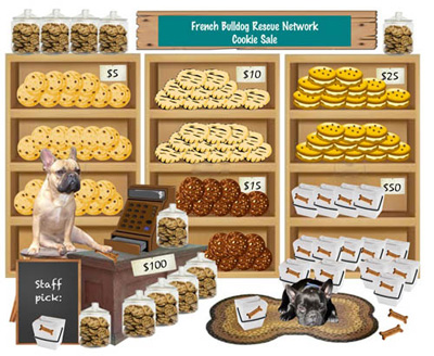 French Bulldog Rescue Network Cookie Sale