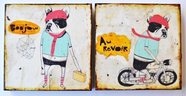 frenchie motorcycle bonjour au revoir