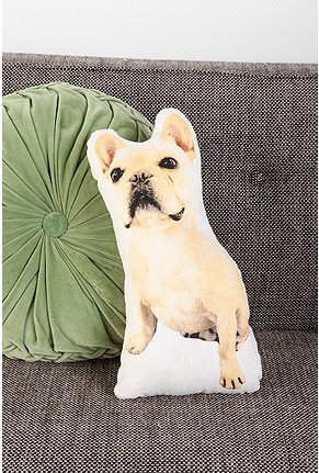 French Bulldog Pillow on Couch