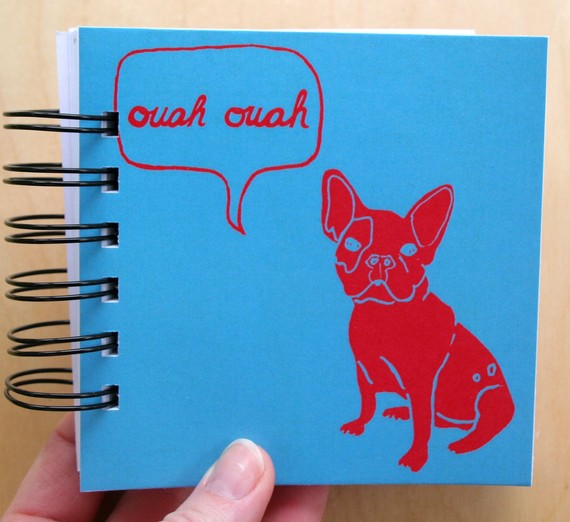 Macey Mack French Bulldog Notebook Front Cover