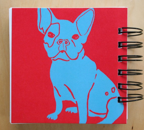 Macey Mack French Bulldog Notebook Back Cover